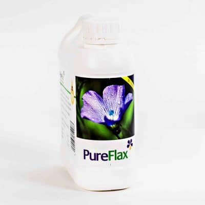 1 Litre 100% Natural PureFlax Flax Seed Oil for dogs, small poines and pets