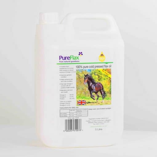 5 Litre 100% Natural PureFlax Flax Seed Oil for Horses