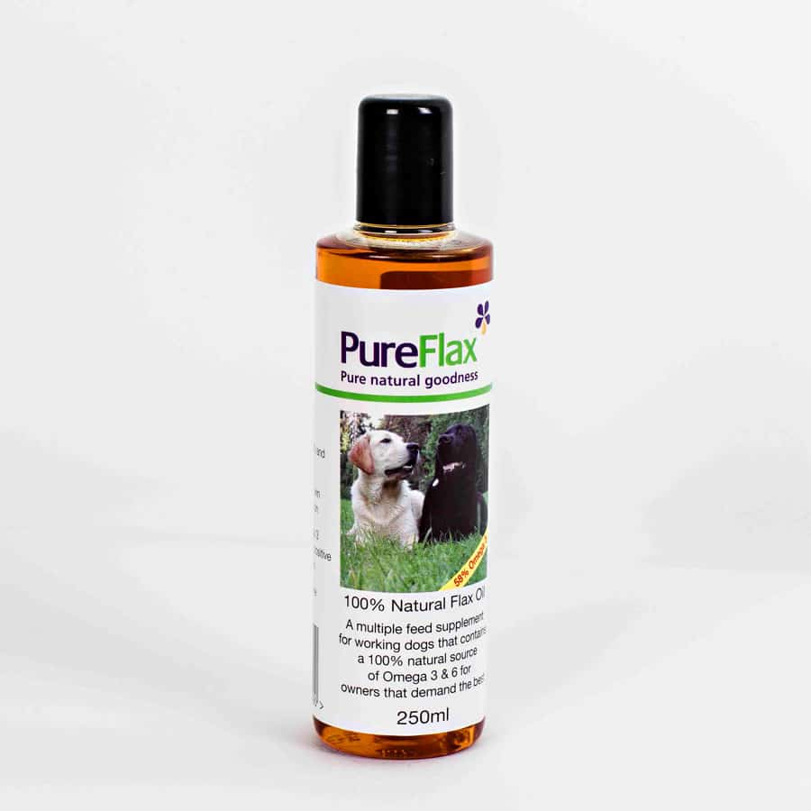 250ml 100% Natural Flax Seed Oil for dogs and small pets