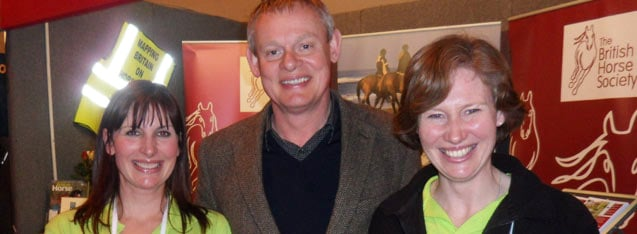 Martin Clunes Checks Out PureFlax at BETA 2011