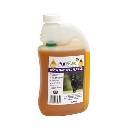 500ml 100% Natural Flax Seed Oil for dogs and small pets