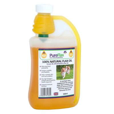 500ml 100% Natural Linseed Oil for dogs & small pets