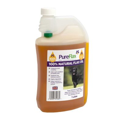 1 litre 100% Natural Flax Seed Oil for dogs