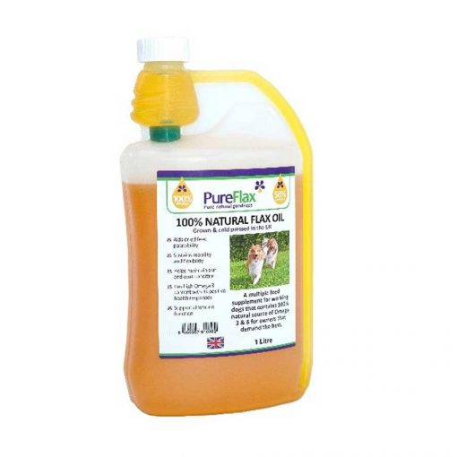 1 ltr 100% Natural Linseed Oil for dogs