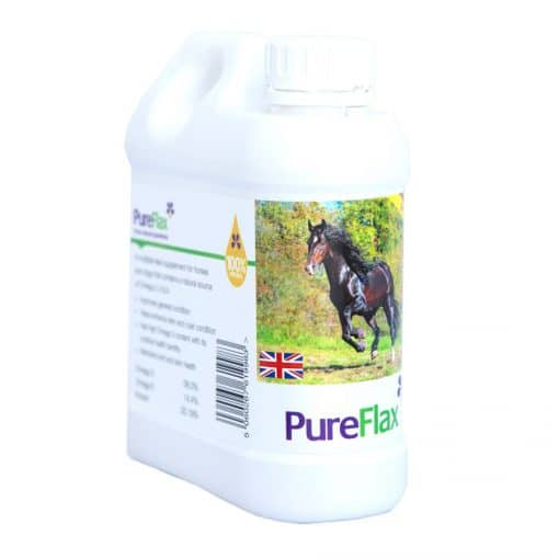 1 Litre 100% Natural PureFlax Flax Seed Oil for horses & ponies