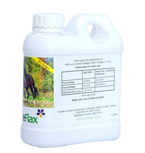1 Litre 100% Natural PureFlax Flax Seed Oil daily use feeding guide