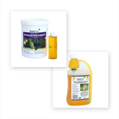 Advanced Dog Formula with Turmeric & Black Pepper 750g Linseed Supplement + 500ml Linseed for Dogs