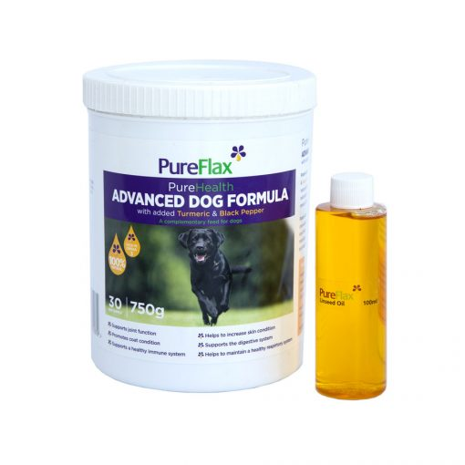 Advanced Dog Formula with Turmeric & Black Pepper 750g linseed supplement