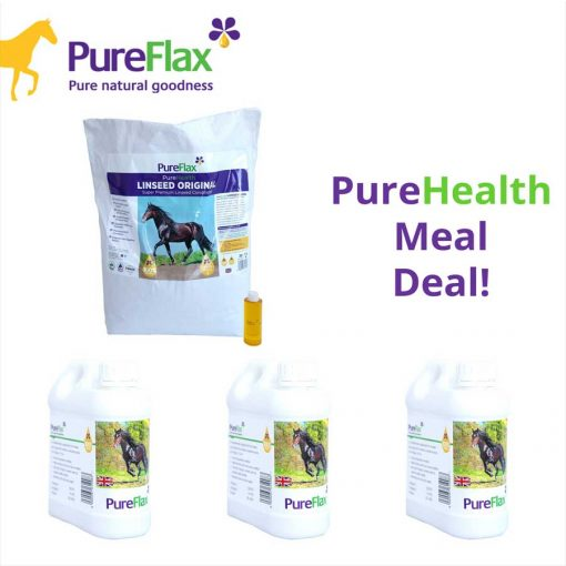 Healthy Horse Meal Deal - Linseed Original + 3 x 1L Containers of 100% Natural Linseed