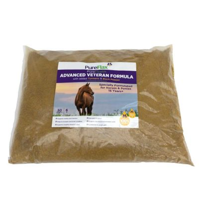 6kg EcoRefill of Advanced Veteran Formula 100% Natural PureFlax Linseed for horses 15+