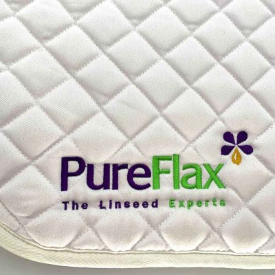 Large 100% white cotton quilted PureFlax saddle cloth