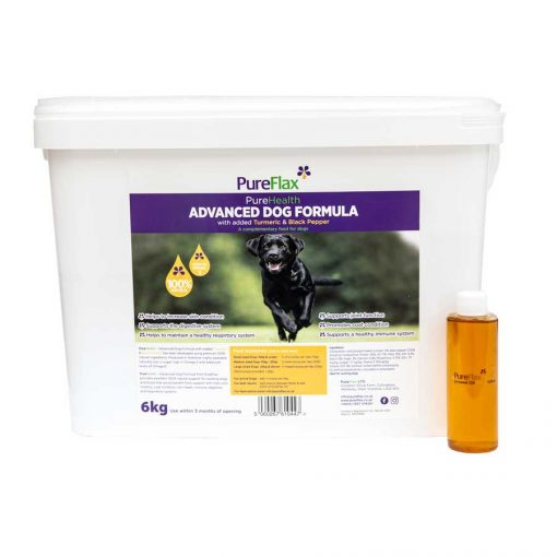 6kg Advanced Dog Formula with Turmeric & Black Pepper linseed supplement