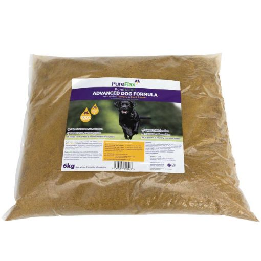 6kg EcoRefill Advanced Dog Formula with Turmeric & Black Pepper linseed supplement