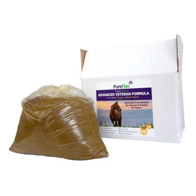 6kg EcoRefill box of Advanced Veteran Formula 100% Natural PureFlax Linseed for horses 15+